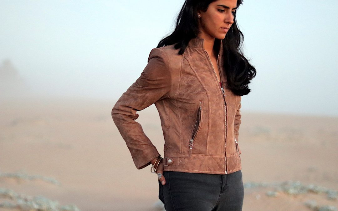 Women's Classic Leather Jacket – Rust Brown