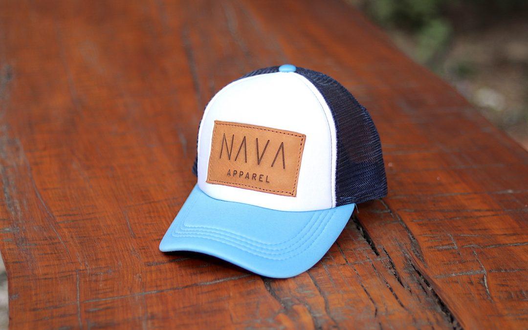 Vintage Trucker – Powder Blue / White / Navy